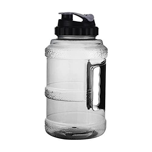 Jarra de Agua - Botella de Agua Grande de 2.5L Botella de Agua Reutilizable Grande Plástico a Prueba de Fugas Inodoro Hervidor de Boca Ancha Gimnasio Fitness al Aire Libre - Negro, r1