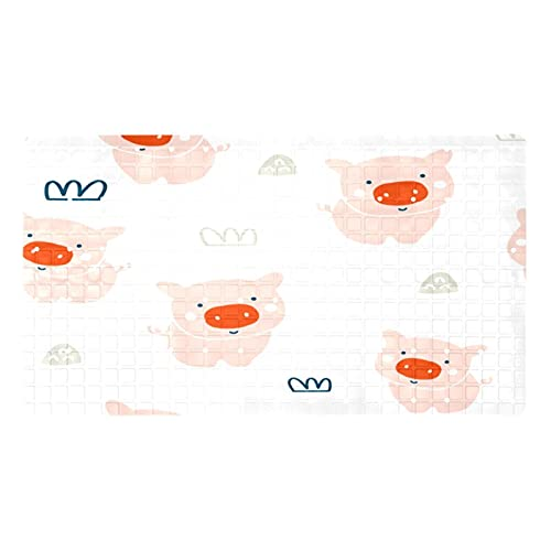 Lindo animal cerdo corona patrón baño Mat Oval largo 15.6 x 28 pulgadas para suelos de baldosas