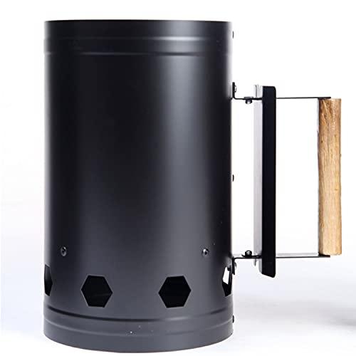 VARANO火起こし器 チャコールスターター 火おこし器 ひおこし器 チャコスタ 炭火おこし器 らくらく着火 炭 燃焼 煙突効果 コンパクト 簡単収納 ステンレス材質