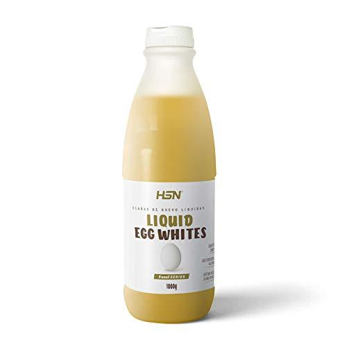 Claras de Huevo Líquida de HSN | 100% Proteína, 0% Grasa | Sin Refrigerar, Sin Aditivos | 1 Bote equivale a 32 claras pasteurizadas | Recetas de Repostería | Tortitas Proteicas | 970ml ⭐
