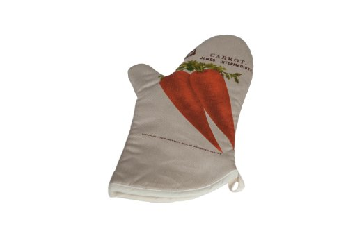 H & L Russel Oven Mitt in Wortel, Wit