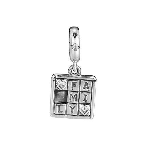LIJIAN DIY 925 Sterling Jewelry Charm Beads Family Game Night Dangle Colgante Hacer Originales Pandora Collares Pulseras Y Tobilleras Regalos para Mujeres