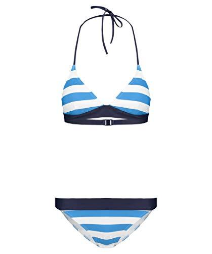 Hot Stuff Damen Triangel-Bikini zweiteilig blau/Weiss (707) 42