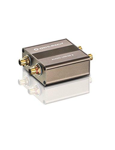Oehlbach Audio Linear 8 - Galvanischer Trennfilter für Plattenspieler & Subwoofer - Entstörfilter zur Eliminierung von Masseschleifen - metallic braun