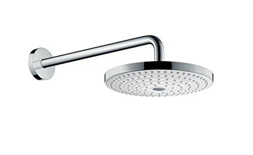 hansgrohe Raindance Select S 240 wassersparender Duschkopf, Kopfnrause für Deckenmontage, 2 Strahlarten, Weiß/Chrom