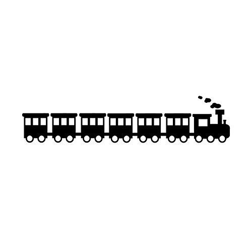 Choo Choo train – Autocollants Stickers muraux en vinyle – 22,9 x 101,6 cm – Cute Art mural Stickers pour petites filles garçons chambre à coucher – Salle de chambre d'enfant Décoration murale