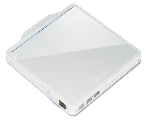 BUFFALO USB2.0用 ポータブルDVDドライブ Wケーブル収納タイプ ホワイト DVSM-PC58U2V-WHC