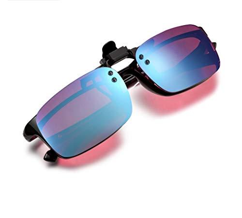 Pilestone Red-Green Color Blind Glasses TP-029 Clip-on Purple Lenses Same Lens as TP-025