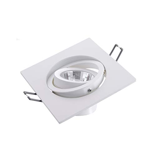 WRMOP Super heldere LED 4000K warm wit licht Embedded Spotlight Silver Down Plate radiator grill licht R/20/03/06