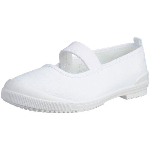 [アキレス] 上履き バレー 日本製 布製 14cm~26cm 2E キッズ 男の子 女の子 CHB 6300 白 24.0㎝