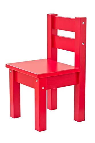 Hoppekids MADS Chaise, Pin, Rouge, Petit