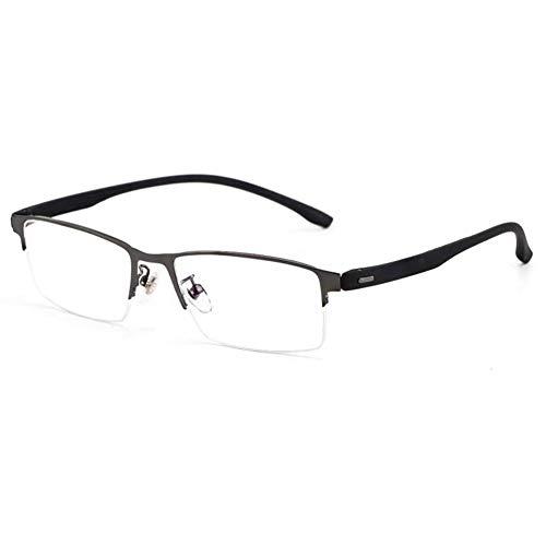 EYEphd Gafas de Lectura fotocromáticas de HD de Medio Marco Ultraligero de los Hombres, 1,56 Lente de Resina asférica Anti-Azul luz al Aire Libre Espejo Diopter +1.0 a +3.0,Gris,+2.75