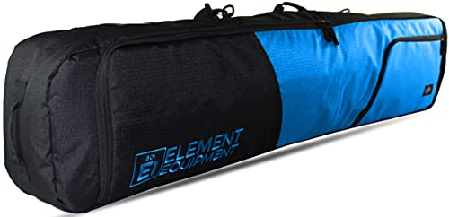 Element Equipment Deluxe Padded Snowboard Bag - Premium High End Travel Bag Blue Ripstop 157