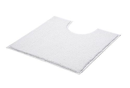 Kleine Wolke 4018100150 WC-Vorleger Kansas, 50 x 50 cm mit Ausschnitt, weiß