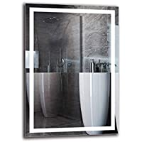 Espejo LED Premium - Dimensiones del Espejo 70x100 cm - Espejo de baño con iluminación LED - Espejo de Pared - Espejo de luz - Espejo con iluminación - ARTTOR M1CP-47-70x100 - Blanco cálido 3000K