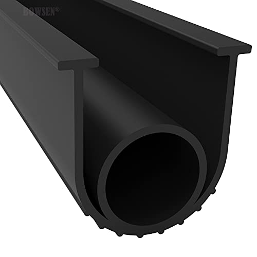 BOWSEN Garage Door Seals Bottom Weatherproof Weatherstrip High Performance EPDM Rubber Black 5/16 Inch T-End,10ft Long