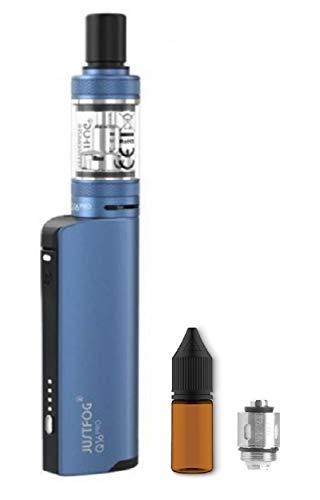 電子タバコ JUSTFOG Q16 pro KIT ヴェポライザー 加熱式たばこ ジャストフォグ スターターキッド リキッド専用 VAPE サービス品 交換用コイル ユニコーンボトル付き (Blue)