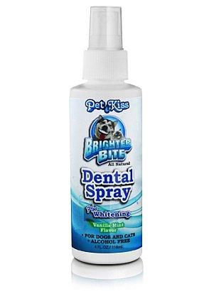 Petkiss Brighter Bite Dental Spray gegen Zahnstein bei Hund und Katze