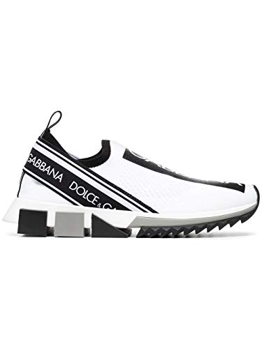 Luxury Fashion | Dolce E Gabbana Mujer CK1595AH67789697 Blanco Zapatillas Slip-On | Otoño-Invierno 19