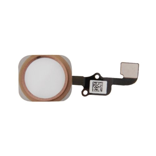 Best Shopper - Replacement Plus Home Button Assembly with Flex Cable Ribbon - Rose Gold Compatible with Apple iPhone 6S