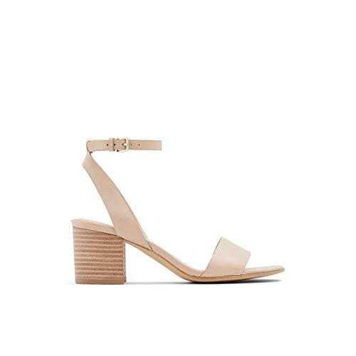 ALDO Women's Doreclya Heeled Sandal, Bone, 6