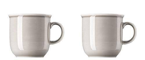 Thomas Trend Colours/Farben - Becher mit Henkel groß - 2er-Set - Henkelbecher Mugge Humpen Haferl Tasse Kaffeebecher (Moon Grey (Mond-Grau), 2 Stück)
