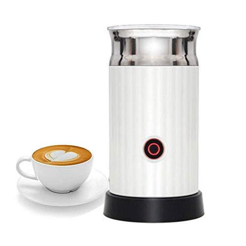 Mini melkopschuimer Electric Milk Steamer Liquid Heater met Hot koude melk Functionaliteit temperatuurregelaars for koffie, latte, cappuccino, Flat White, Frappe More, Black zhihao (Color : White)