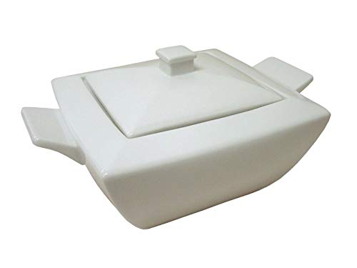 SOPERA DE VAJILLA Cuadrada 2600ML Porcelana Blanco