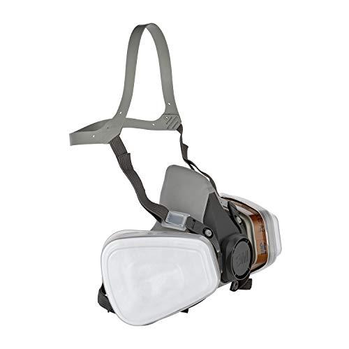 3M Mehrweg-Halbmaske 6002C – Halbmaske mit Wechselfiltern gegen organische Gase, Dämpfe und Partikel – Für Farbspritz- und Maschinenschleifarbeiten - 2