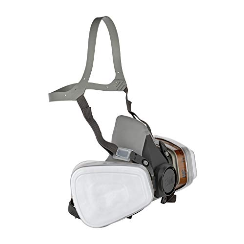 3M Mehrweg-Halbmaske 6002C - Halbmaske mit Wechselfiltern gegen organische Gase, Dämpfe und Partikel - Für Farbspritz- und Maschinenschleifarbeiten - 4