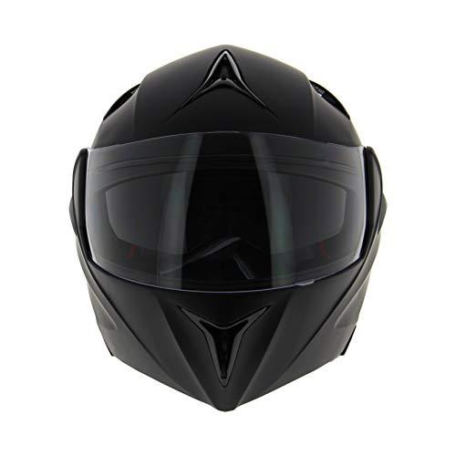 AMBIKE 005402 - Casco de moto modular negro mate Talla L