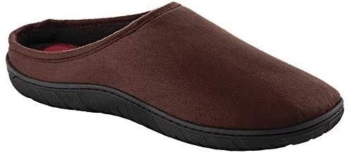 totes Toasties Men's Memory Foam Slippers (11-12, Brown)