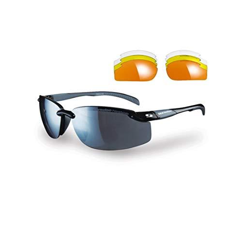 Sunwise Pacific - Gafas de sol deportivas para hombre, adecuadas para actividades deportivas y fines de leasing, resistente al agua y a los impactos con lente envolvente, talla única, color negro