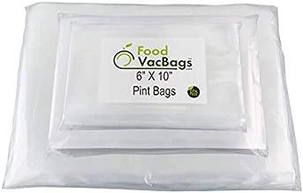 150 Combo FoodVacBags Vacuum Seal Bags - 3 sizes! 50 Pint, 50 Quart and 50 Gallon, 4 MIL, Commercial Grade, Sous Vide, No BPA, Boil, Microwave & Freezer Safe