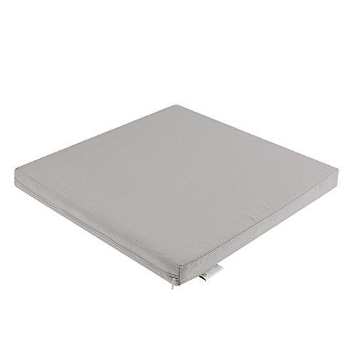 In & Outdoor - Cojín para salón (70 cm, resistente al agua, 70 x 70 x 5 cm), color gris