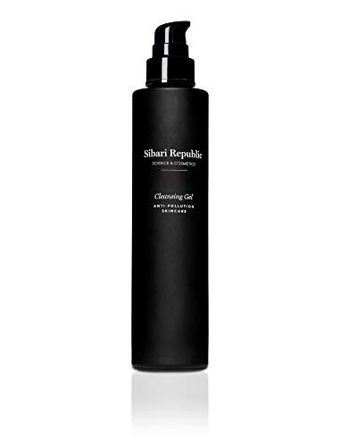 Sibari Republic. Limpiador facial Antipolución en Gel. Elaborado con Ácido Hialurónico; humecta y suaviza. Para todo tipo de piel. 150 ml.