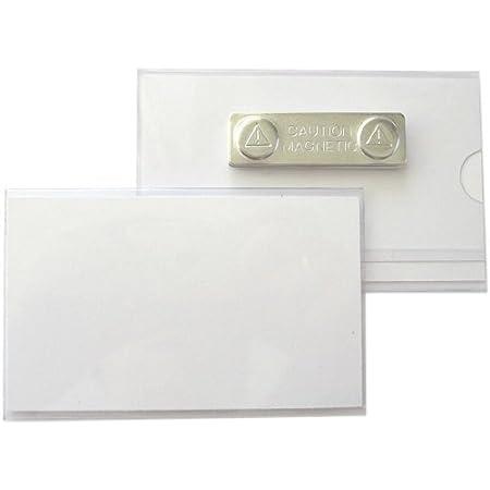 5 Pièces Insignes D'Identité, Enveloppement Id en PVC Rigide avec Aimant 90x55 MM