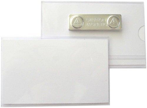 5 Stück Namensschilder, Ausweishüllen aus Hart-PVC mit Magnet 90x55 mm