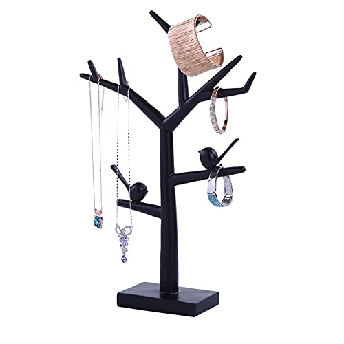 Rack de joyería Resina Desktop Jewelry Rack Joyería Soporte Soporte Tenedor Colgante Pendiente Pendiente Bandeja Joyería Mostrar almacenamiento Organizador Decoración Organizador de stand de joyería