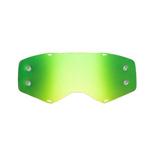 SeeCle vervangende lenzen voor bril compatibel met Scott Prospect masker Groen gespiegeld