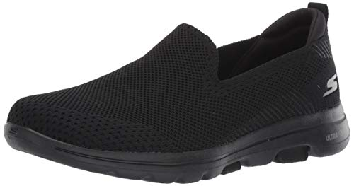 Skechers Women's GO Walk 5-PRIZED Sneaker, Black, 7.5 M US