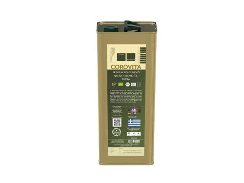 Corovita Bio-Olivenöl | natives Olivenöl extra | Bio | aus Griechenland | Region Messenien | 5 Liter Kanister | kaltgepresst | Hersteller: Fam. Kotrotsis