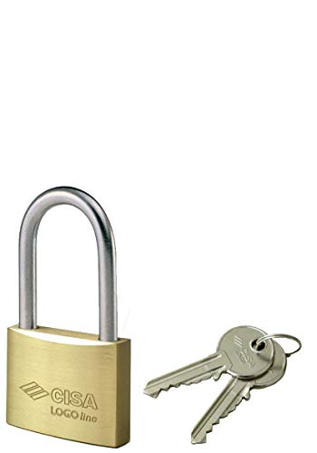 Cisa 21011500 Lucchetto Arco Lungo Locking Line, Ottone, 50 mm