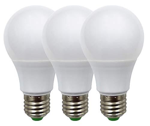 Lampadina a LED E27, 12 V, bassa tensione 5 W, attacco standard, 50 W, equivalente DC/AC, luce diurna, 6000 K, confezione da 3