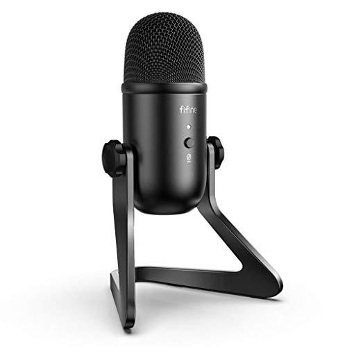SCDZS Micrófono USB para grabación/transmisión/Juegos, micrófono Profesional para PC, Salida de Auriculares de micrófono y Control de Volumen