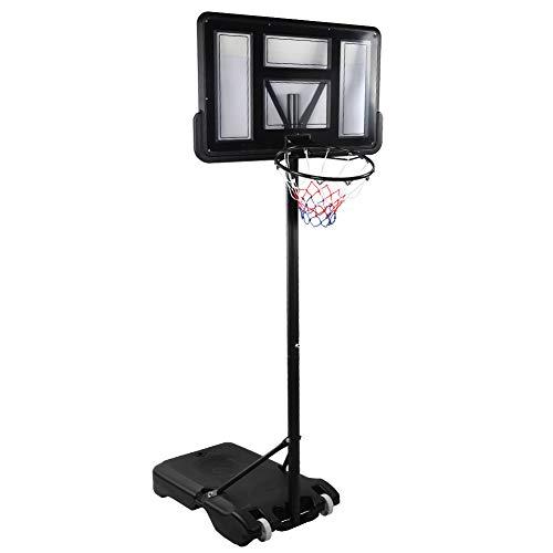 Alvinlite Aro de Baloncesto, aro de Baloncesto extraíble portátil Soporte Ajustable en Altura Suministros Deportivos para Adultos Diseños Integrados Hace