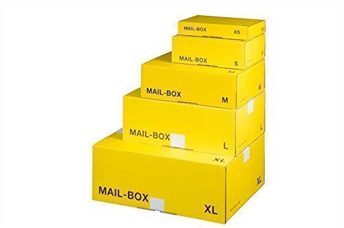 Mail-Box S, gelb, 249x175x79 mm Versandkarton Postversandkarton 20 Stück