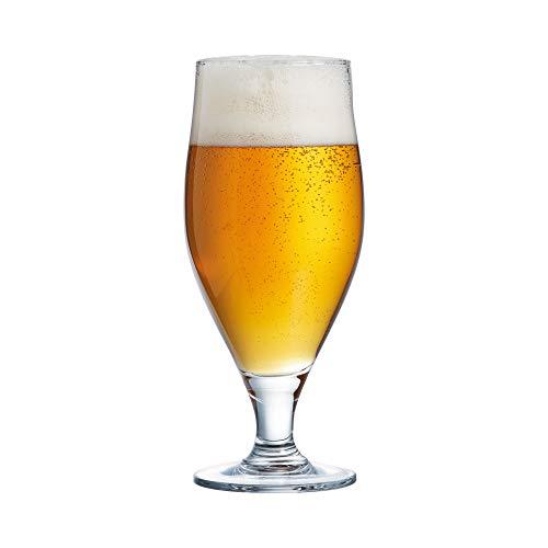 Cervoise bierglazen met steel, 620 ml, 6 stuks à 620 ml, Craft-bierglazen, kampbierglazen met steel, Amerikaanse biertulpen