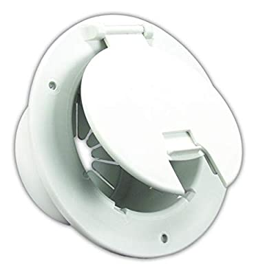 JR Products Deluxe Round Electric Cable Hatch with Back