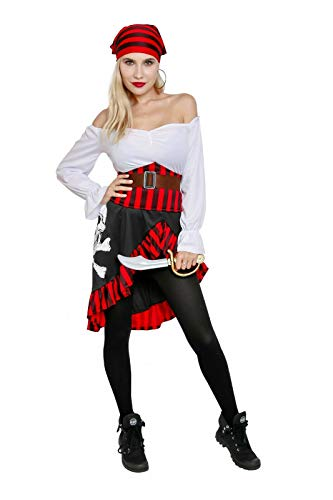 Hydra Costume Damen Piraten-Maid, Hochsee-Buccaneer, Captain, Swashbuckler Kostüm - - X-Large